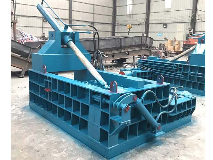 Horizontal-metal-baler-of-different-output
