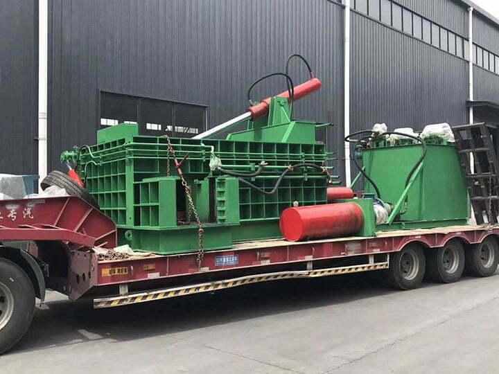 Scrap metal baler sold to Afghanistan