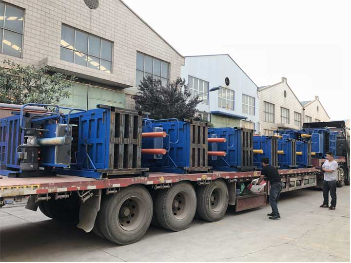 the shipment of the metal baler