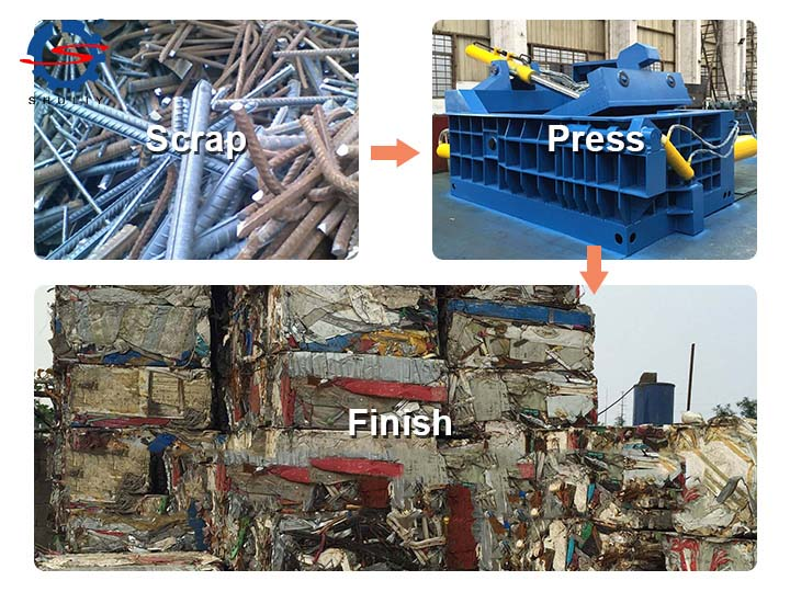 the-working-process-of-the-metal-baler