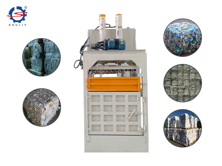 vertical metal baler