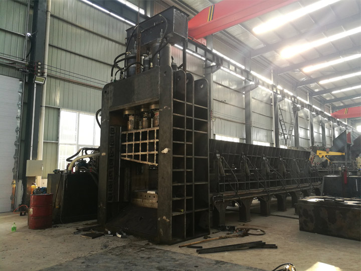 gantry shear is being made