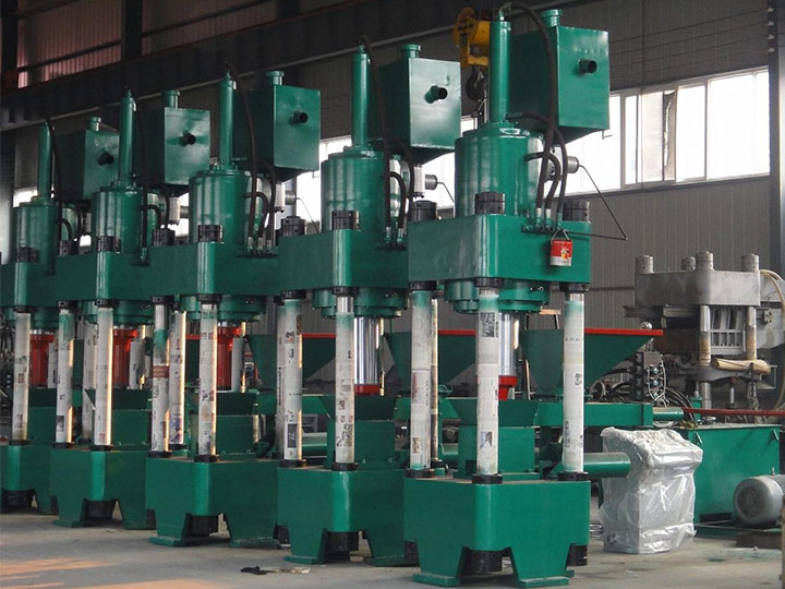 scrap metal chips briquetting machine
